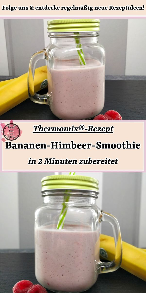 Bananen-Himbeer-Smoothie Thermomix Rezept Pin