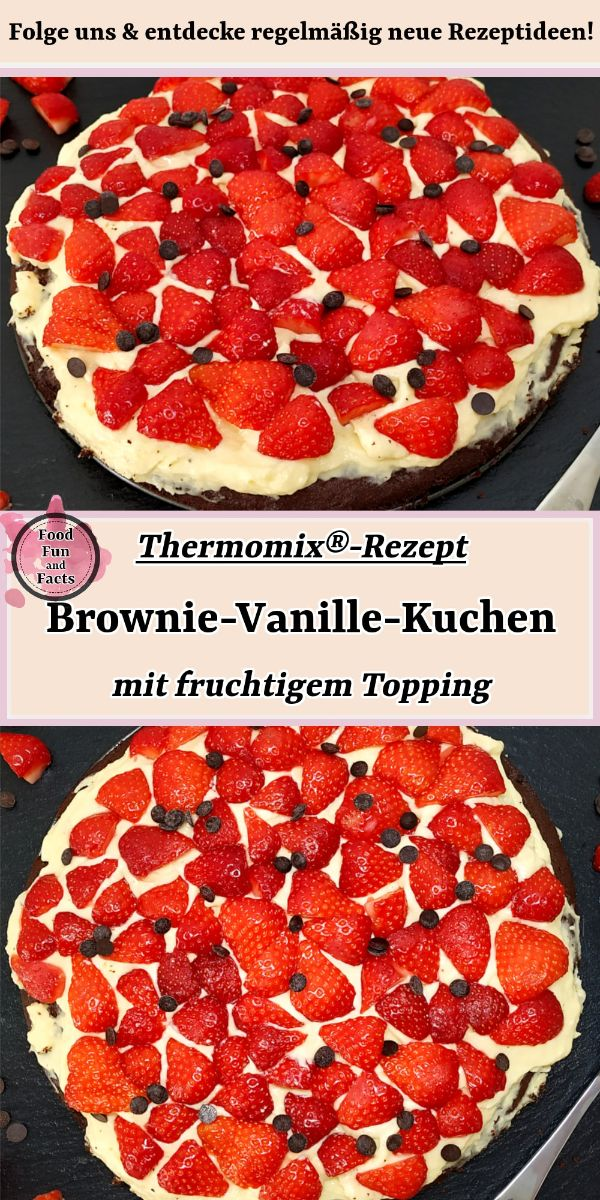 Brownie-Vanille-Kuchen Thermomix Rezept Pin